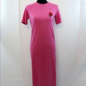 Asos Rose fuchsia long t shirt dress